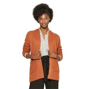 NWT A New Day Textured Cardigan Sweater XL Rust